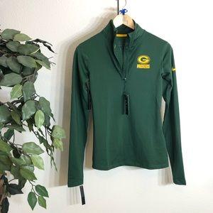NWT Green Bay Packers Nike Half Zip Nike Pullover